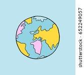 hand drawn earth   Shutterstock .eps vector #652249057
