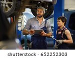 repair mentor consulting his... | Shutterstock . vector #652252303