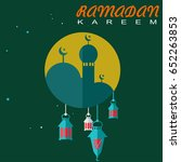 islamic background ramadan... | Shutterstock .eps vector #652263853