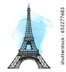eiffel tower in paris... | Shutterstock . vector #652277683