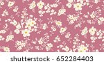 seamless floral pattern in... | Shutterstock .eps vector #652284403