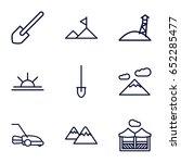 landscape icons set. set of 9... | Shutterstock .eps vector #652285477
