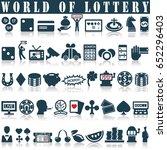 lottery  roulette  casino  slot ... | Shutterstock .eps vector #652296403