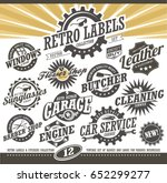 retro labels and stickers... | Shutterstock .eps vector #652299277