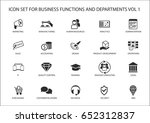 various business functions and... | Shutterstock .eps vector #652312837