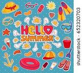 hello summer. set of summer... | Shutterstock .eps vector #652320703
