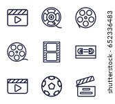 cinematography icons set. set... | Shutterstock .eps vector #652336483