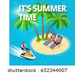 it's summer time.  summer party ... | Shutterstock .eps vector #652344007