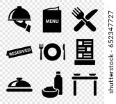 dining icons set. set of 9... | Shutterstock .eps vector #652347727