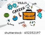 social media and network... | Shutterstock . vector #652352197