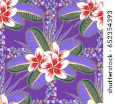 tropical seamless pattern with... | Shutterstock . vector #652354393
