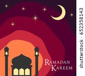 ramadan kareem background... | Shutterstock .eps vector #652358143