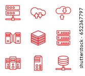 database icons set. set of 9... | Shutterstock .eps vector #652367797