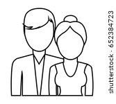 avatar couple icon | Shutterstock .eps vector #652384723