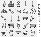 garden icons set. set of 25... | Shutterstock .eps vector #652405327