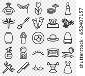 beauty icons set. set of 25... | Shutterstock .eps vector #652407157