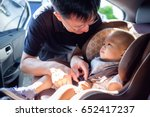 smiling middle age asian father ... | Shutterstock . vector #652417237