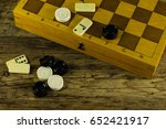 various board games chess board ... | Shutterstock . vector #652421917