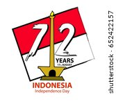 indonesia independence day... | Shutterstock .eps vector #652422157