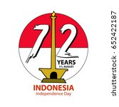 indonesia independence day... | Shutterstock .eps vector #652422187