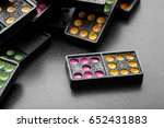black color dominoes with... | Shutterstock . vector #652431883