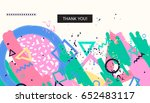 abstract universall header.... | Shutterstock . vector #652483117