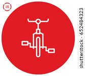 bike cycle line vector icon | Shutterstock .eps vector #652484323