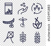 seed icons set. set of 9 seed... | Shutterstock .eps vector #652491883