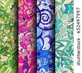 set of tracery colorful... | Shutterstock .eps vector #652497997