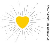 yellow vector heart placed in... | Shutterstock .eps vector #652507423