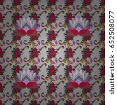 hand drawn floral texture ... | Shutterstock . vector #652508077