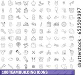 100 teambuilding icons set in... | Shutterstock .eps vector #652509397