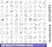 100 quality control icons set... | Shutterstock .eps vector #652510453