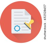 authorized vector icon | Shutterstock .eps vector #652528657