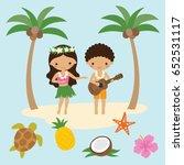vector illustration of girl... | Shutterstock .eps vector #652531117