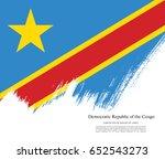 flag of the democratic republic ... | Shutterstock .eps vector #652543273