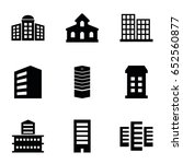 headquarters icons set. set of... | Shutterstock .eps vector #652560877