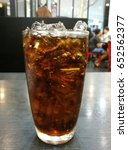 black color soft drink on a... | Shutterstock . vector #652562377