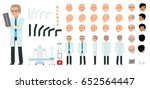 man character creation set. the ... | Shutterstock .eps vector #652564447