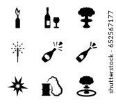 explosion icons set. set of 9... | Shutterstock .eps vector #652567177
