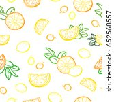 vector seamless pattern with... | Shutterstock .eps vector #652568557