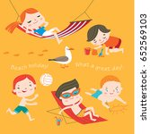 summer child's outdoor... | Shutterstock .eps vector #652569103