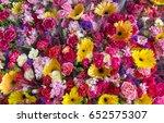 Fresh Flowers In Outdoor Flowe...