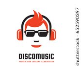 disco music   vector logo... | Shutterstock .eps vector #652590397