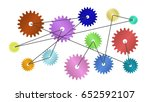 cogs connected. concept of... | Shutterstock . vector #652592107