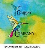 "logo ""kolibri"" for companies in ... | Shutterstock .eps vector #652600393"