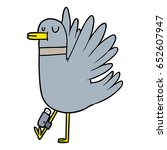 cartoon flapping wood pigeon | Shutterstock .eps vector #652607947
