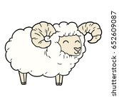cartoon ram | Shutterstock .eps vector #652609087