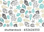 hand drawn doodle sea pattern....   Shutterstock .eps vector #652626553