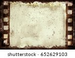 grunge frame or distressed... | Shutterstock .eps vector #652629103
